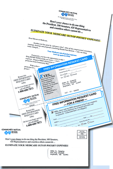 Acquisition mailing for Blue Cross Blue Shield
