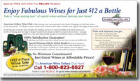 print ad for wines